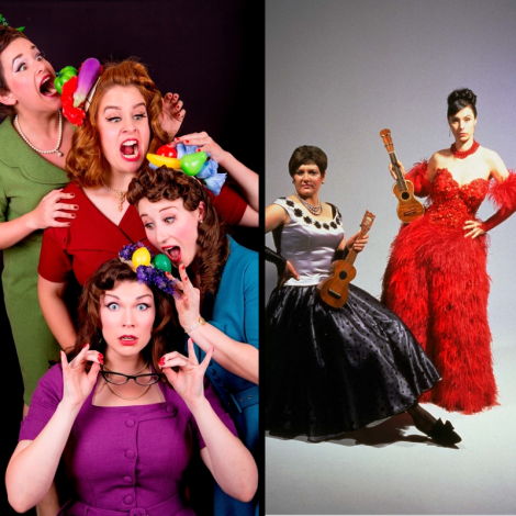 Behind The Seams performs The Wesley Anne barbershop quartet cabaret lady groups