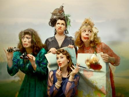 Glamping melbourne comedy cabaret vintage harmonies barbershop quartet